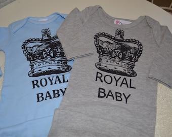 Boy infant Newborn Take Me Home Baby Boys Layette Gown Royal King Baby