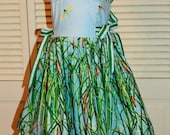 Ruffles and Bows, Green Cattails Sundress Size 4