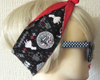Alice in Wonderland Hair Tie Head Scarf by Dolly Cool Super Cute and Kawaii Japan Harajuku Queen of Hearts