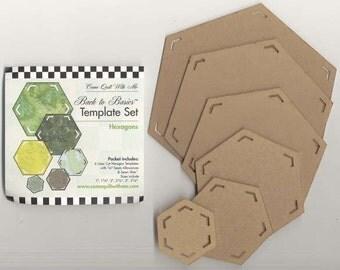Sale!  Hexagon Template 6 Piece (CQHSET) -Come Quilt With Me