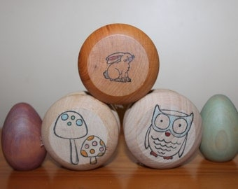 Wooden yoyo- tons of design choices. Great stocking stuffer.