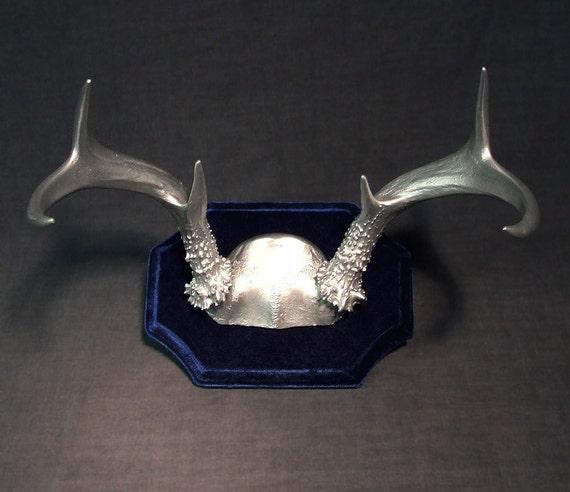 Silver Deer Antlers Wall Decor : Silver antler rack real deer antlers high fashion by