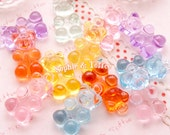 Gummy Bears Fake Sweets Charm / Flatback Cabochon / Sweets Deco / Miniature Sweets - 6pcs
