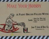 Dutch Boy Paints 1915 Advertising Postcard Sent by John T Lewis and Bros Philadelphia PA