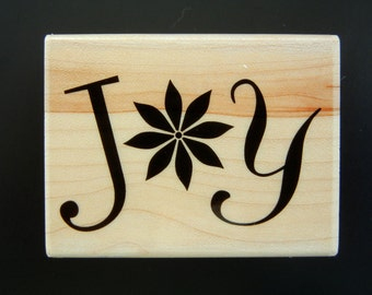 Hero Arts JOY FLOWER Wood Mount Rubber Stamp