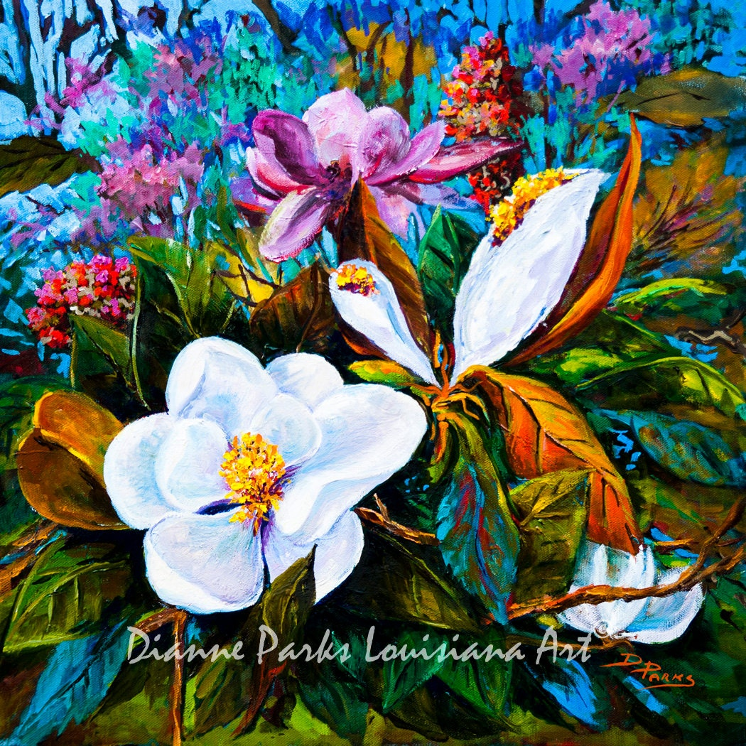 Magnolia Blooms Magnolia Grandiflora Louisiana State Flower