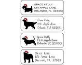 Christmas Dogs Return Address Labels