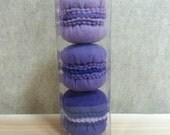 Felt Food Macaroons - Purple