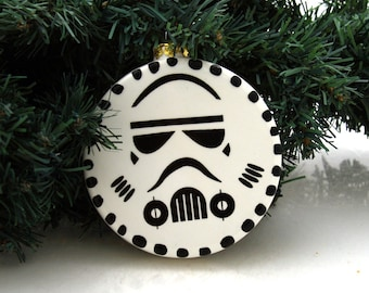 Christmas ornament Star Wars (R) Storm trooper ceramic
