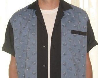Men's Rockabilly Shirt Jac Vintage Fabric