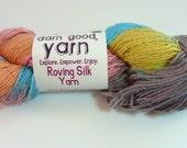 CLEARANCE SALE  - Roving Silk Yarn  - Single Ply Silk Yarn 100Gm