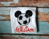 Mickey Mouse Soccer Ball  Shirt, Boys Soccer Ball Shirt, Boys Mickey Mouse Shirt