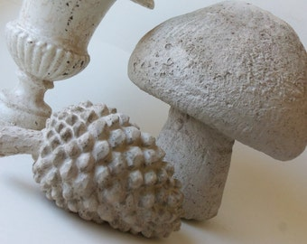 hold for smt - cement mushroom and pine cone - local pick-up only (please do not purchase unless you are smt)