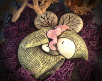 Sleeping Fairy Poppet - Just a Little Green - Lisa Snellings