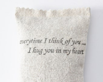 Long Distance Relationship Gift, Thinking of You Lavender Sachet, Miles Apart, Loss of Loved One