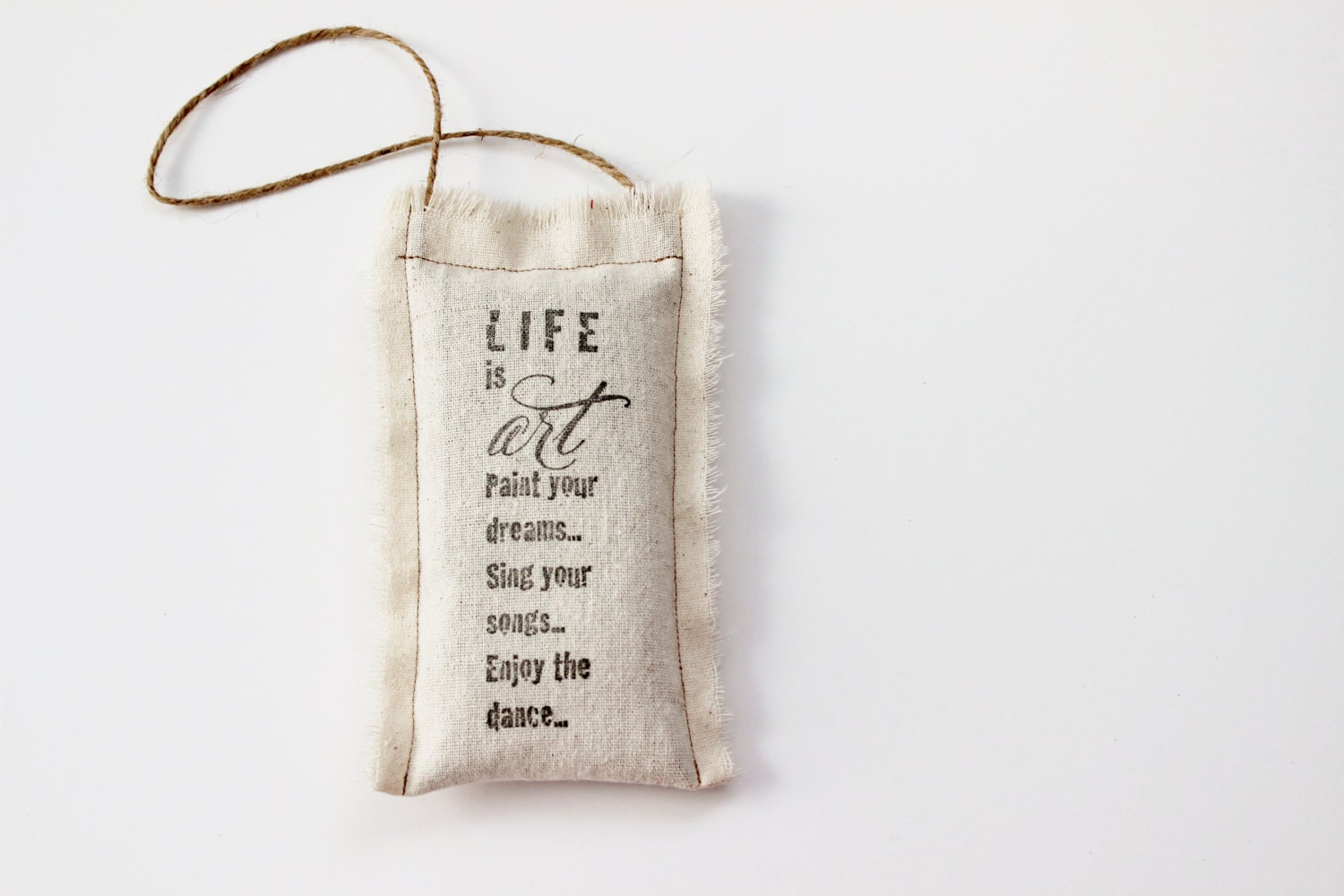 Door Hanger Pillow With Art Saying Inspirational Hanging