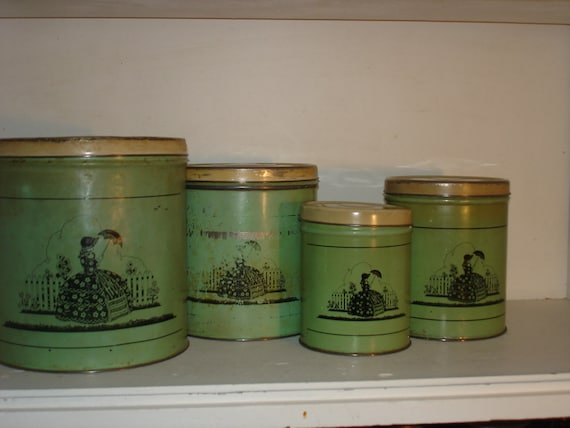 vintage metal tin canisters retro kitchen southern belle vintage retro kitchen canisters winda 7 furniture