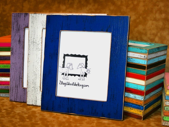 11x17 Picture Frame, colorful frame, weathered frame, Shabby Frame ...