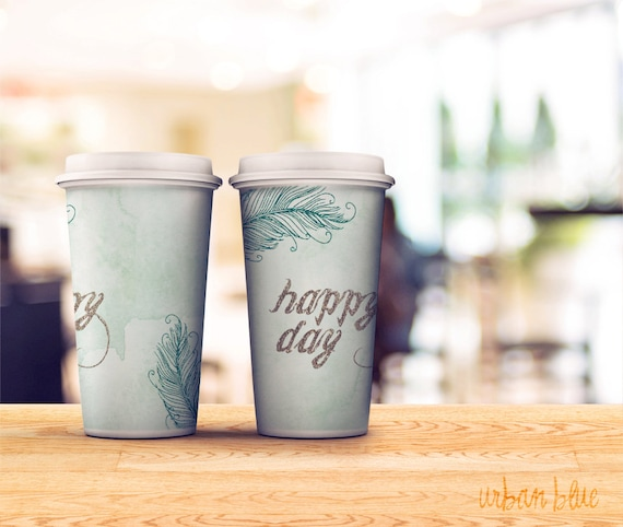 Printable Coffee Sleeve, Paper Cup Cover template, Hot Cup Wrapper ...