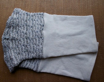 Plus Size Organic Leg Warmer Green and White Sweater Leggings Knit Leggings Knee High Organic Cotton Leggings Eco Friendly Leg Warmers