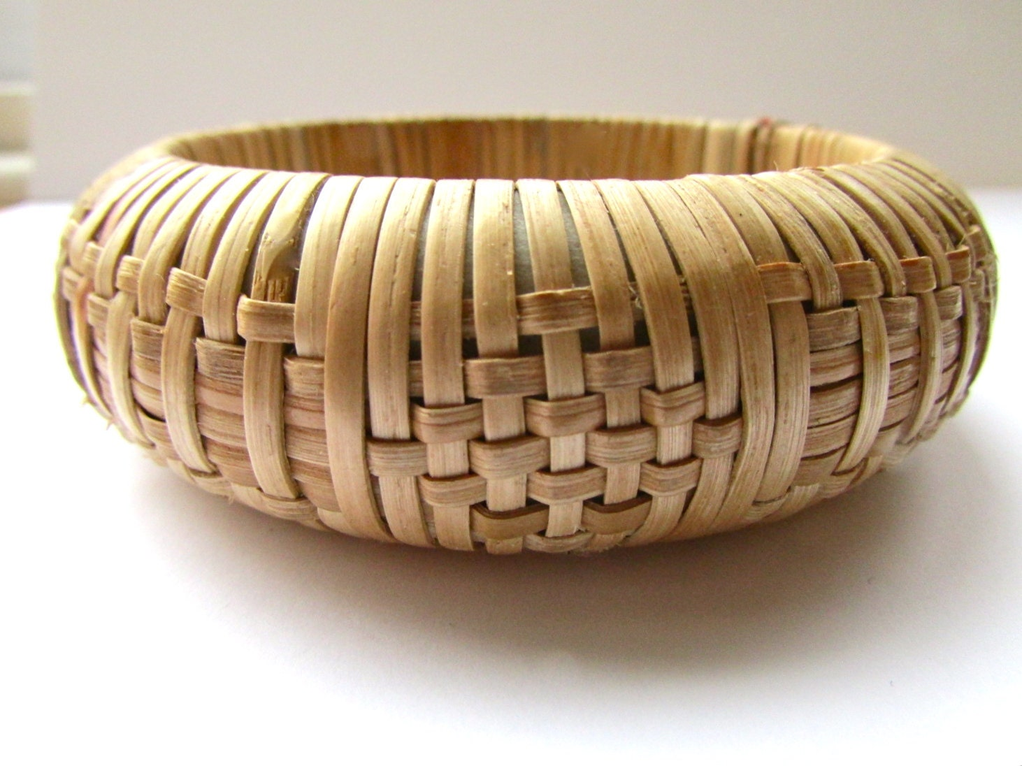 How To Basket Weave Bracelet : Unique basket weave wide vintage bangle by veryvintagefinds