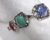 Sarah Coventry vintage Fiesta multi color cab link bracelet