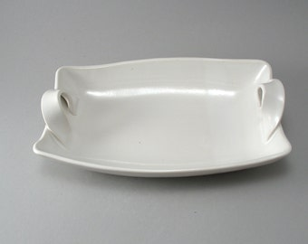 Pottery Serving Dish - White Serving Bowl - Tableware - Ceramic Dish - White - Stoneware Server - Classic White Glaze - Ready to Ship