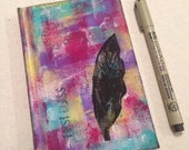 Hand-painted Feather Art Journal
