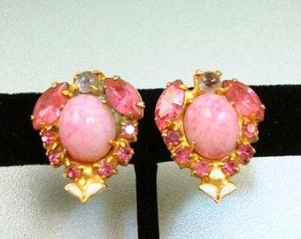 Pink Art Glass Earrings