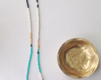 Gold Jewelry Dish/Gold Ring Dish/You Are Loved Jewelry Dish