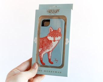 iPhone 4 or 4S Tough Case, Foxy Fox - Ready to Ship