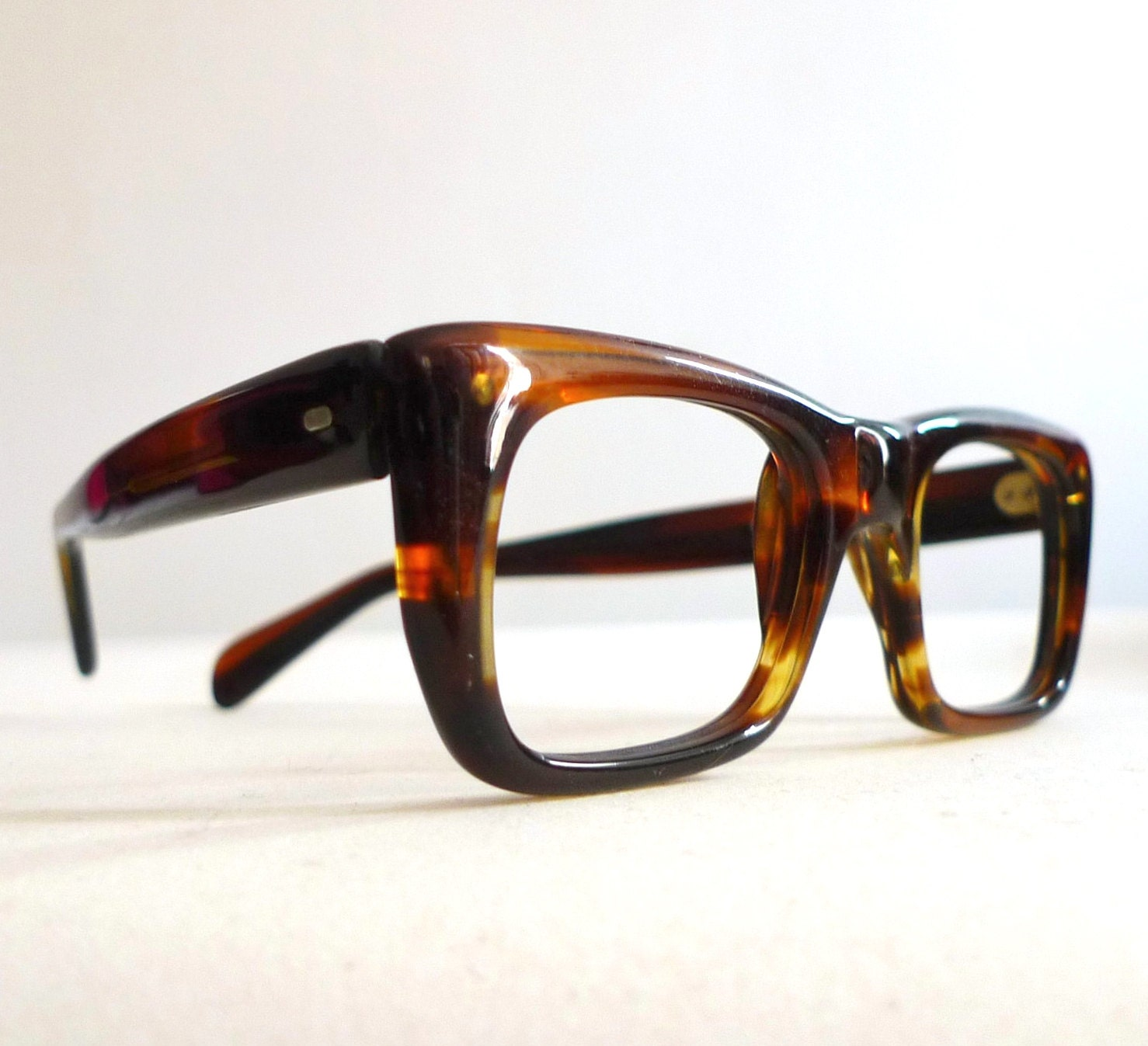 SALE Frame Italy Tortoise Shell Eyeglasses Classic by ...