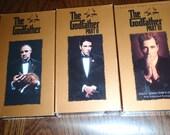 Movie Godfather Starting Marlon Brando and Al Pacino 3 VHS Movies