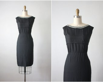 mother of pearl dress / 60s wiggle dress