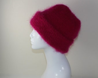 Instant Digital File pdf download - Extra Thick Mohair Hat knitting pattern