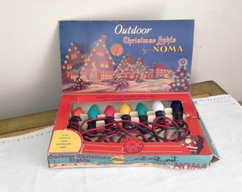 Vintage NOMA Christmas Lights 1940s Outdoor Multi Color