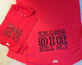 Big and Baby Sister/Brother shirts set of 2