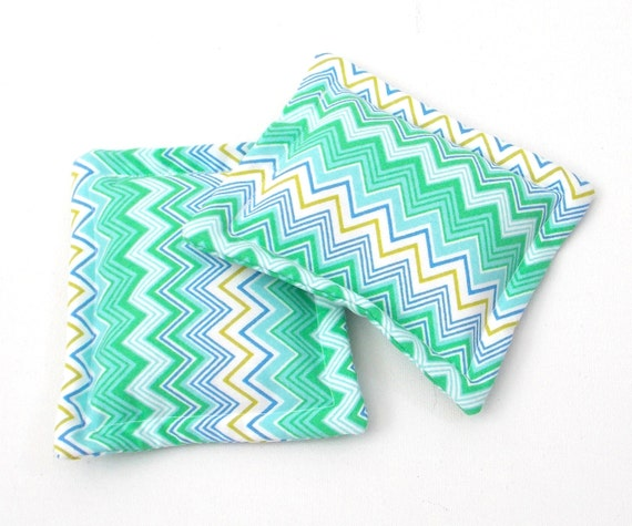 heat therapy rice bags set of 2 green blue by