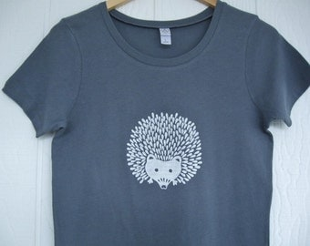 Hedgehog Organic Cotton Ladies T Shirt