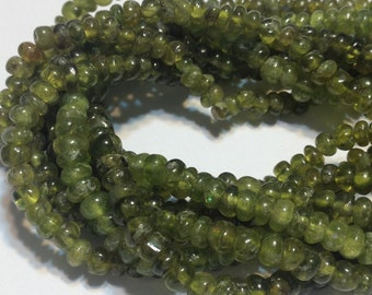 Vesuvianite small polished rondelle beads whole strand