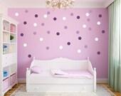 """Polka Dot Wall Decals - 3 Colors - 3"""" Polka Dots - Circle Wall Stickers"""