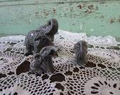 Vintage lot Family of elephants Porcelain Miniature marked Germany German
