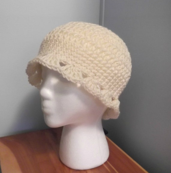 Sandys Shell Edged Hat - girl/women - one size fits all - ready to ship