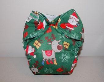 LuluBellDesigns Newborn NB AIO Cloth Diaper 5-10 lbs PRINTS