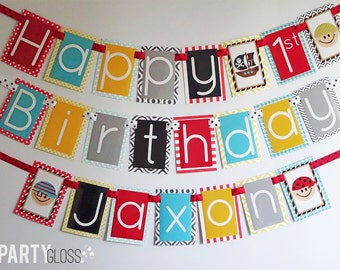Pirate Birthday Party Banner Fully Assembled Decorations