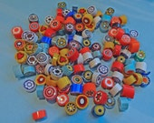 Millefiore Glass Slices, coe 104 Mix, 2 oz (56 grams) Opaques, Fusing, Mosaic or Lampwork, Best Quality