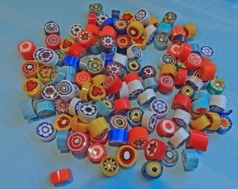 Millefiori Glass Slices, coe 104 Mix, 2 oz (56 grams) Opaques, Fusing, Mosaic or Lampwork, Best Quality
