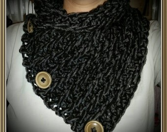 Crochet Neckwarmer/Cowl with Buttons