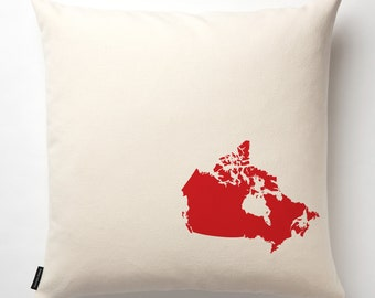 Map of Canada Pillow Cover in Off White