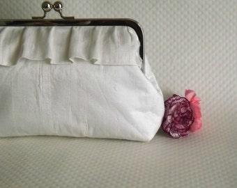 Ivory Bridal Clutch - Wedding Clutch - Bridal Purse - Wedding Purse - Bridesmaids Clutch - Charlotte Clutch